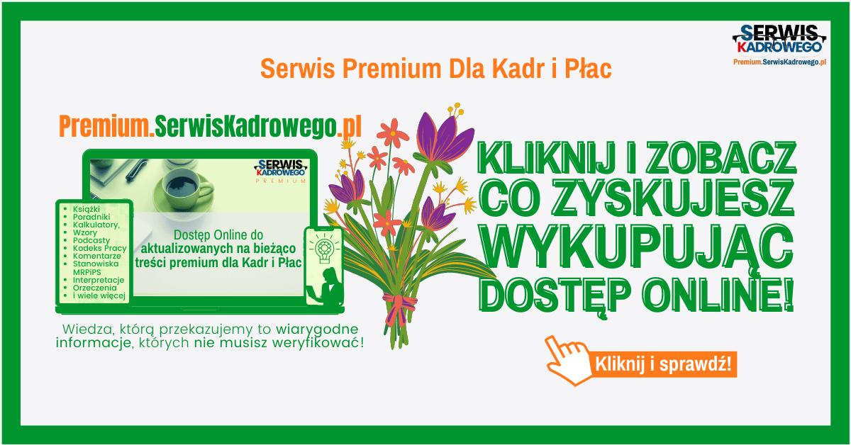 Twoja Platforma Kadrowo - Płacowac PREMIUM.SerwisKadrowego.pl
